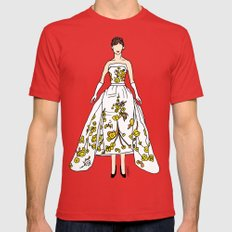 Audrey Hepburn Vintage Retro Fashion 2 Mens Fitted Tee Red SMALL