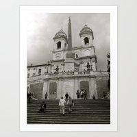 The Spanish Steps Art Print