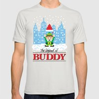 The Legend of Buddy Mens Fitted Tee Silver SMALL