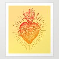Bleeding Heart – Scarlet version Art Print