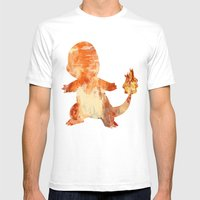 Charrrmander Mens Fitted Tee White SMALL