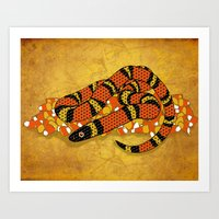 Mexican Candy Corn Snake Art Print