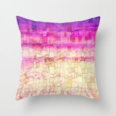Pink Sea Mosaic Throw Pillow