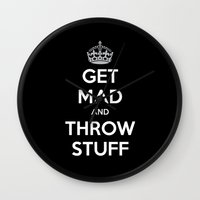 Keep Calm And Get Mad An… Wall Clock