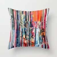 STRIPES 23 Throw Pillow