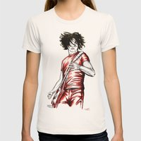Jack White Red Watercolo… Womens Fitted Tee Natural SMALL