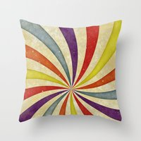 Colorful Twirl Throw Pillow