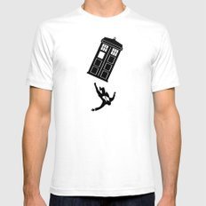 Doctor Who - Mad Men Mens Fitted Tee SMALL White