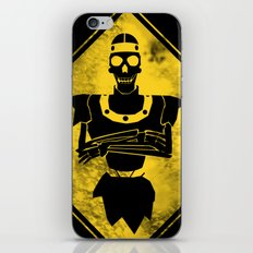 Dragon's Lair Warning Sign iPhone & iPod Skin