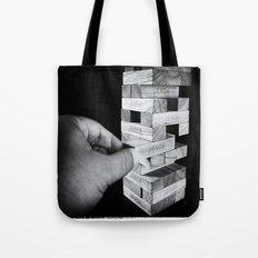 Jenga in Monochrome Tote Bag