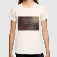 Bright Skies Womens Fitted Tee Natural SMALL