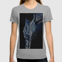 Mosaic Blues Womens Fitted Tee Athletic Grey SMALL