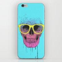 Pop Art Skull With Glass… iPhone & iPod Skin