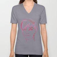 Pink Portrait Unisex V-Neck