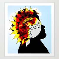 Walking With The Sun Art Print
