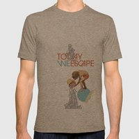 TODAY WE ESCAPE Mens Fitted Tee Tri-Coffee SMALL