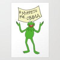 Muppets for Obama Art Print