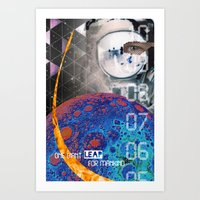 Giant Leap Collage Art Print