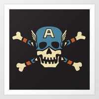 Captain 'Jolly' Rogers  Art Print