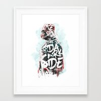 Respect the Dark Side Vader Framed Art Print