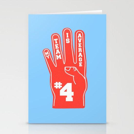 Foam Finger Stationery Card