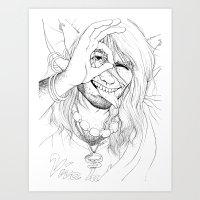 Vivan Los Neones (Black … Art Print