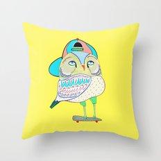Rad Owl Throw Pillow