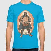 Lucha De Guadalupe Mens Fitted Tee Teal SMALL