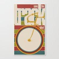 Save The Track Bikes! 02 Canvas Print