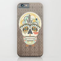AZTEC SKULL B/W  iPhone 6 Slim Case
