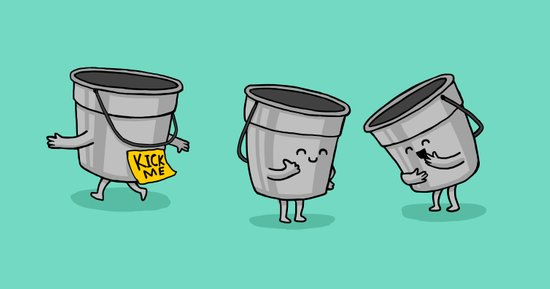Kick the Bucket Canvas Print