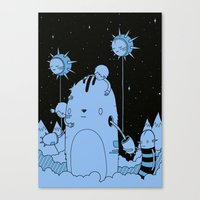 Quest 2 (blue) Canvas Print