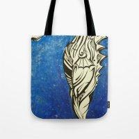 Tribal Seahorse Tote Bag