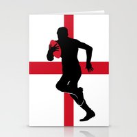 England Rugby Player Stationery Cards