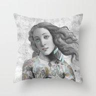 Throw Pillow featuring VENUS ILLUSTRATED by Julia Lillard Art