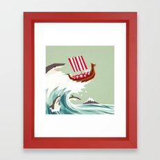 Sharkwave Framed Art Print