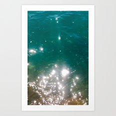 The color of the sea Art Print