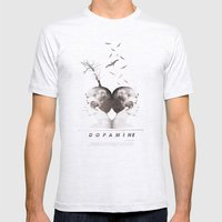 Dopamine | Collage Mens Fitted Tee Ash Grey SMALL