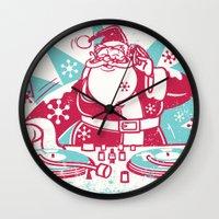 Funky Santa Wall Clock