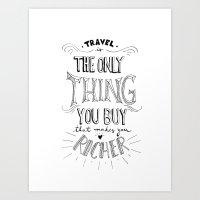 Go & Explore Art Print