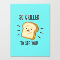 Cheesy Greetings! Canvas Print