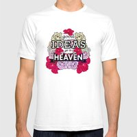 Good Ideas Go To Heaven Mens Fitted Tee White SMALL