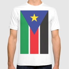 South Sudan Mens Fitted Tee White SMALL