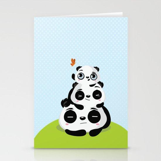 Panda family Stationery Card