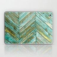 Vintage Blue Wood Laptop & iPad Skin