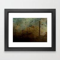 The Skies Grew Darker (I… Framed Art Print