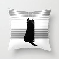 Cat Scratch Throw Pillow
