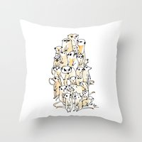 Wild Family Series - Mee… Throw Pillow