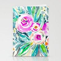 Pink Abundance Floral Stationery Cards