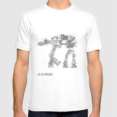 Star Wars Vehicle AT-AT Walker Mens Fitted Tee White SMALL